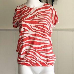 Calvin Klein Red White Animal Print • L